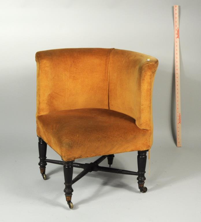 Late Regency Mahogany Upholstered Corner Chair