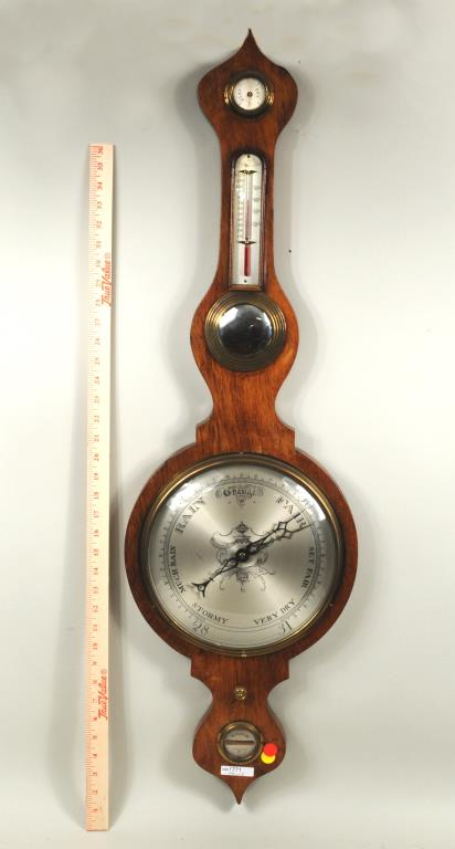 Late English Regency Rosewood Banjo Barometer