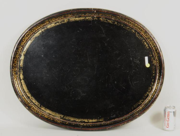 Large Oval Papier Mache Serving Tray