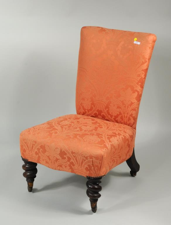 Late Regency Mahogany Upholstered Back Stool