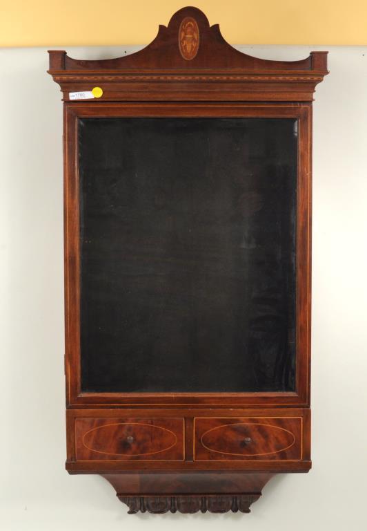Georgian Style Inlaid Mahogany Lighted Cabinet