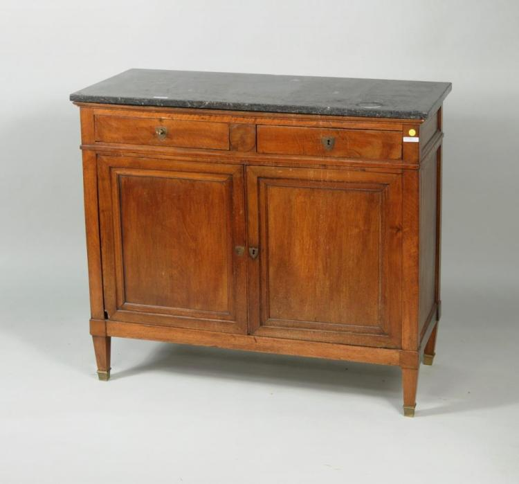 French Directoire Marble Top Buffet