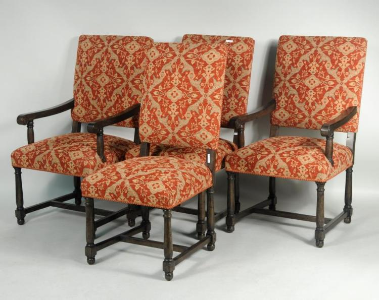 Four Continental Style Upholstered Chairs