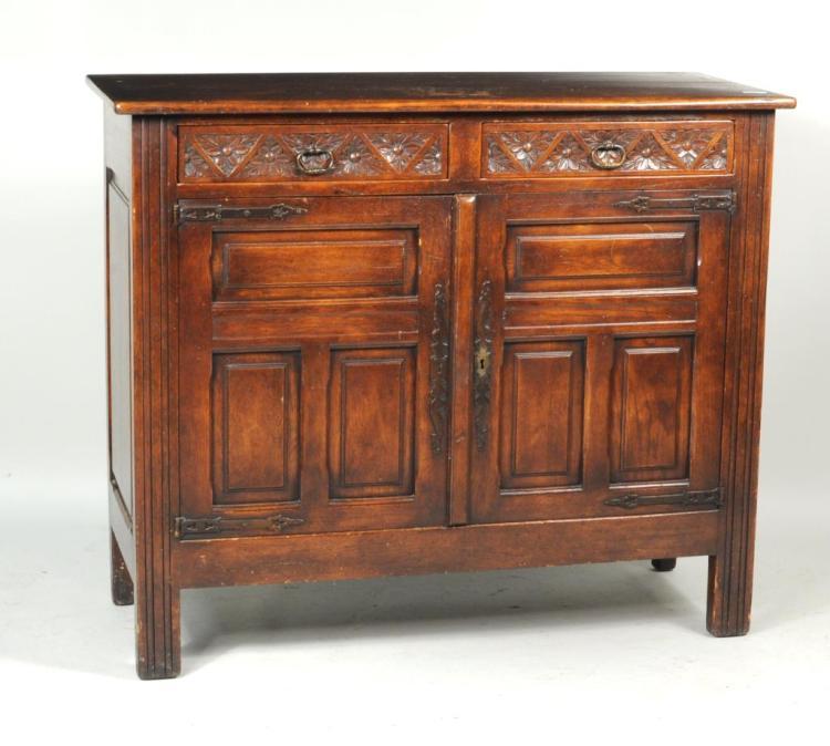 Jacobean Style Oak Cabinet