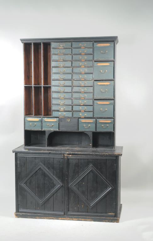 French Provincial Postal Or Clerk's Cabinet