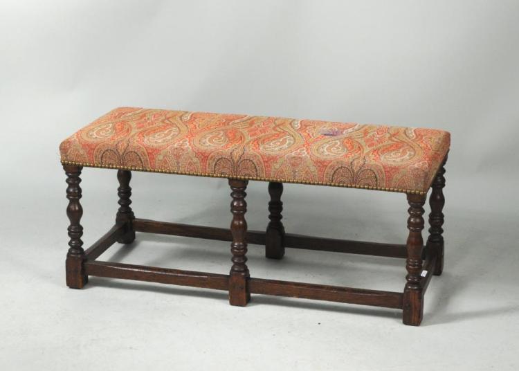 Oak Jacobean Style Bench