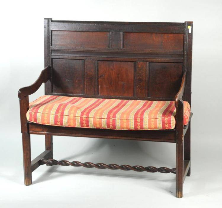 English Oak Small Settle