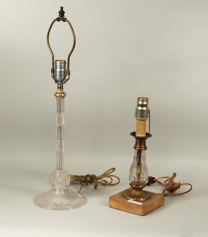 Two Cut Glass Lamps