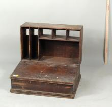 Rustic Painted Pine Counting Desk