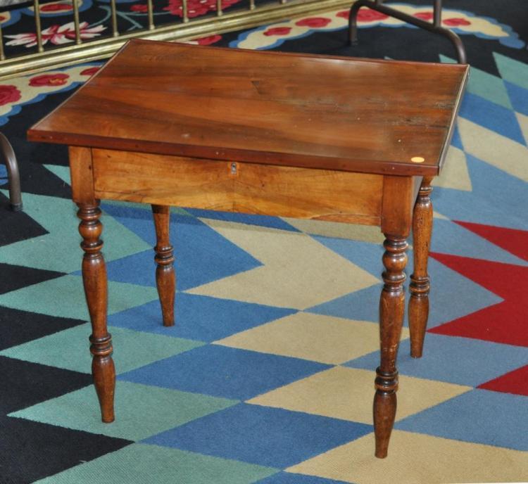 American Sheraton Walnut & Butternut Side Table