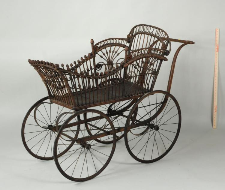 Victorian Heywood Wakefield Baby Carriage