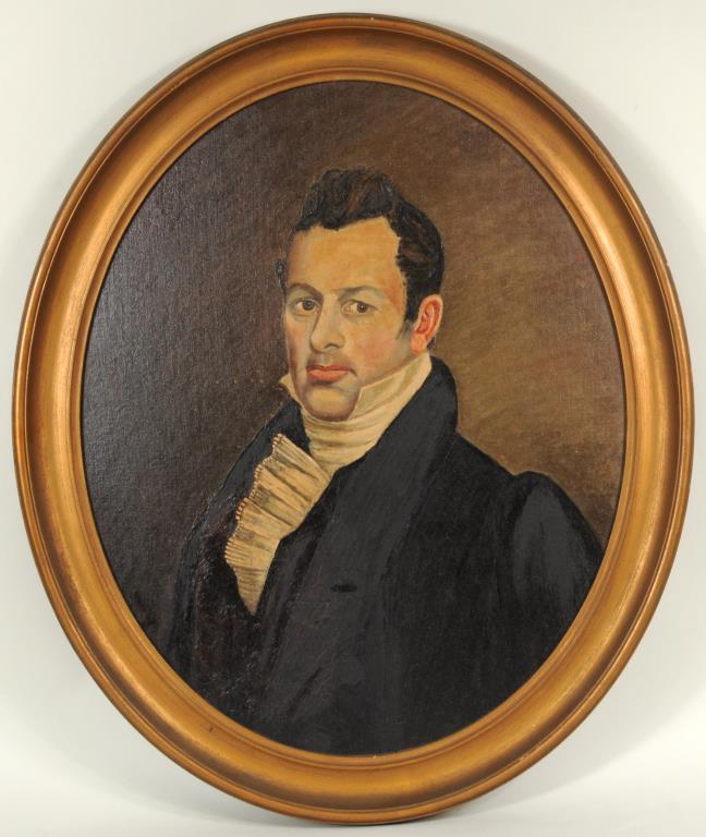 Folk Art Portrait Of A Gentleman