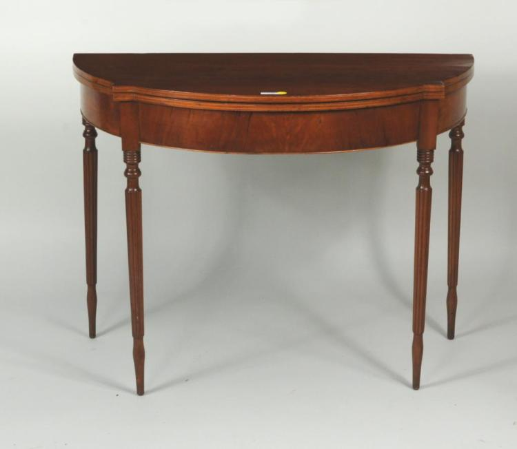 Mixed Woods Sheraton Style Card Table