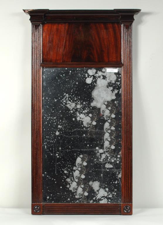 Sheraton Mahogany Architectural Mirror