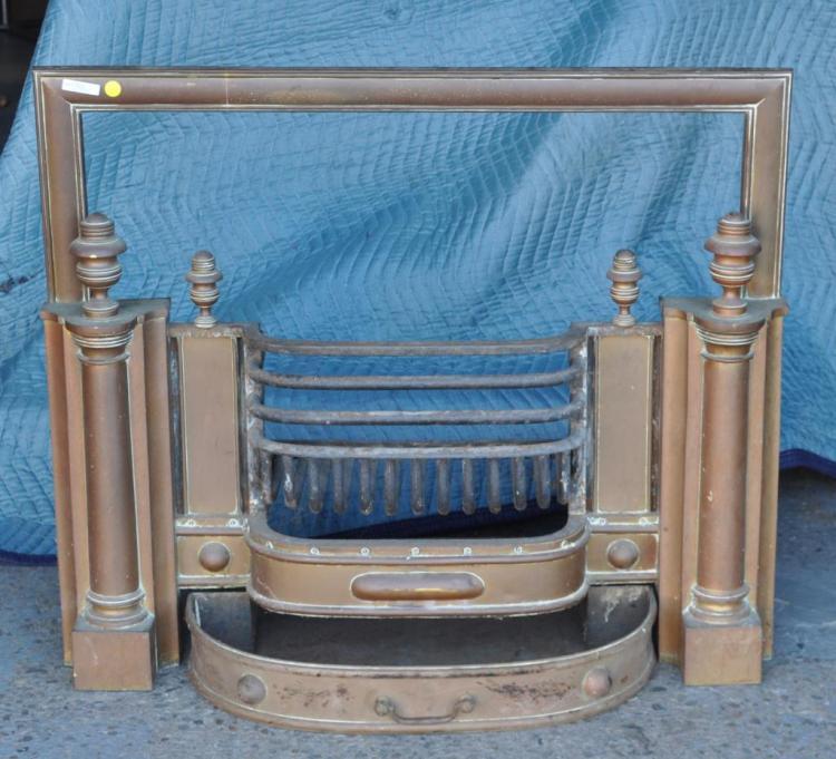 Brass & Wrought Iron Fireplace Insert