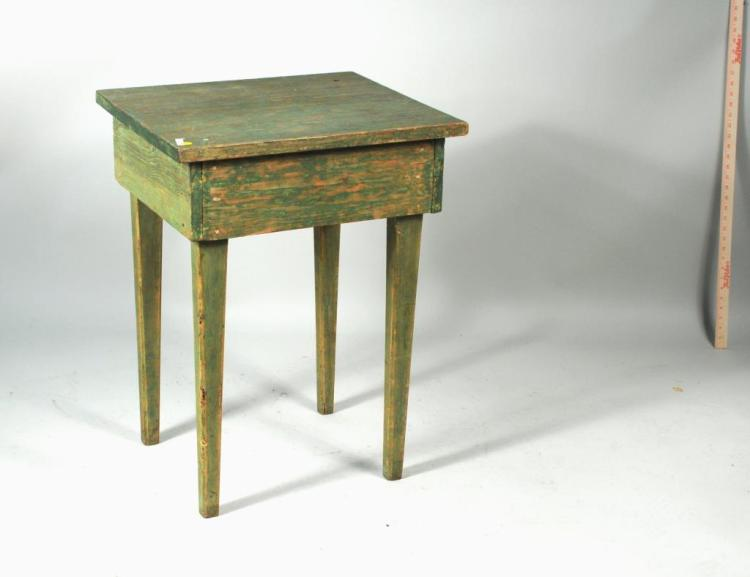 Primitive American Green Painted Side Table