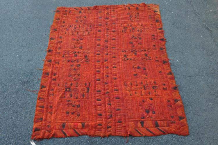 Indian Chain Stitch Rug