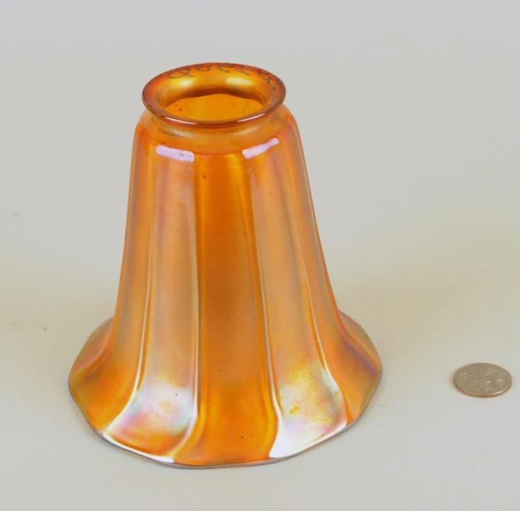 Signed Quezal Glass Shade