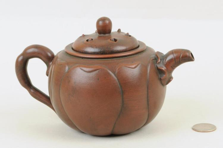 Chinese Yixing Lotus Teapot