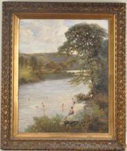 "Arthur P. Garrett, ""The Swimming Hole"" O/C"