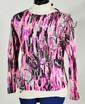 Emilio Pucci Silk Jersey Long Sleeve Top