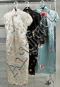 Three Chinese Traditional Style Silk Dresses