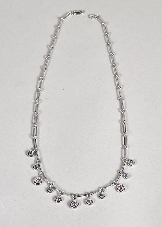Chaumet Paris 18K White Gold & Sapphire Necklace