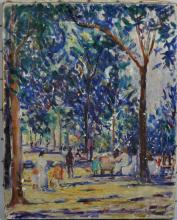 Rachel Hartley (1825-1894) O/C - Central Park