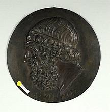 Bronze Relief Plaque of Homer