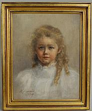 N. Homans,19th/20thC, Portrait Mildred Cox Howes