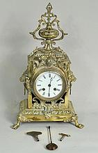 Victorian Brass Mantel Clock