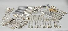 Italian .800 Silver Partial Dinner Service
