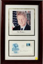 Bill Clinton Autographed Photo & Envelope