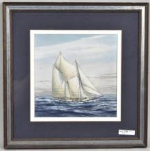 Suzy Aalund, Schooner at Full Sail, W/P