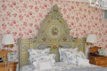 Renaissance Revival Carved & Painted Bed