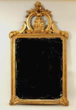 Continental Baroque Giltwood Mirror