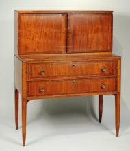 NE Federal Inlaid Mahogany Ladies Desk