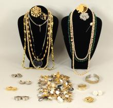 Large Group Costume Jewelry, Various Makers