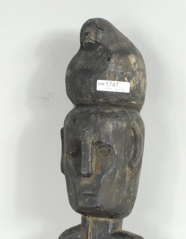 Three philippine ifugao bulul carved boundary markers