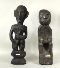 Two Philippine Ifugao Bulul Carved Wood Figures
