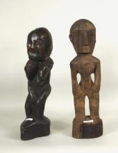 Two Philippine Carved Wood Ifugao Bulul Figures