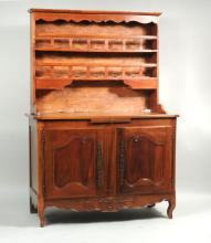 French Provincial Louis XV Fruitwood Vaisselier