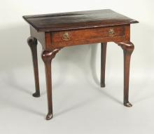 Queen Anne Oak One Drawer Writing Desk
