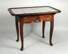 French Provincial Pine Tile Top Table