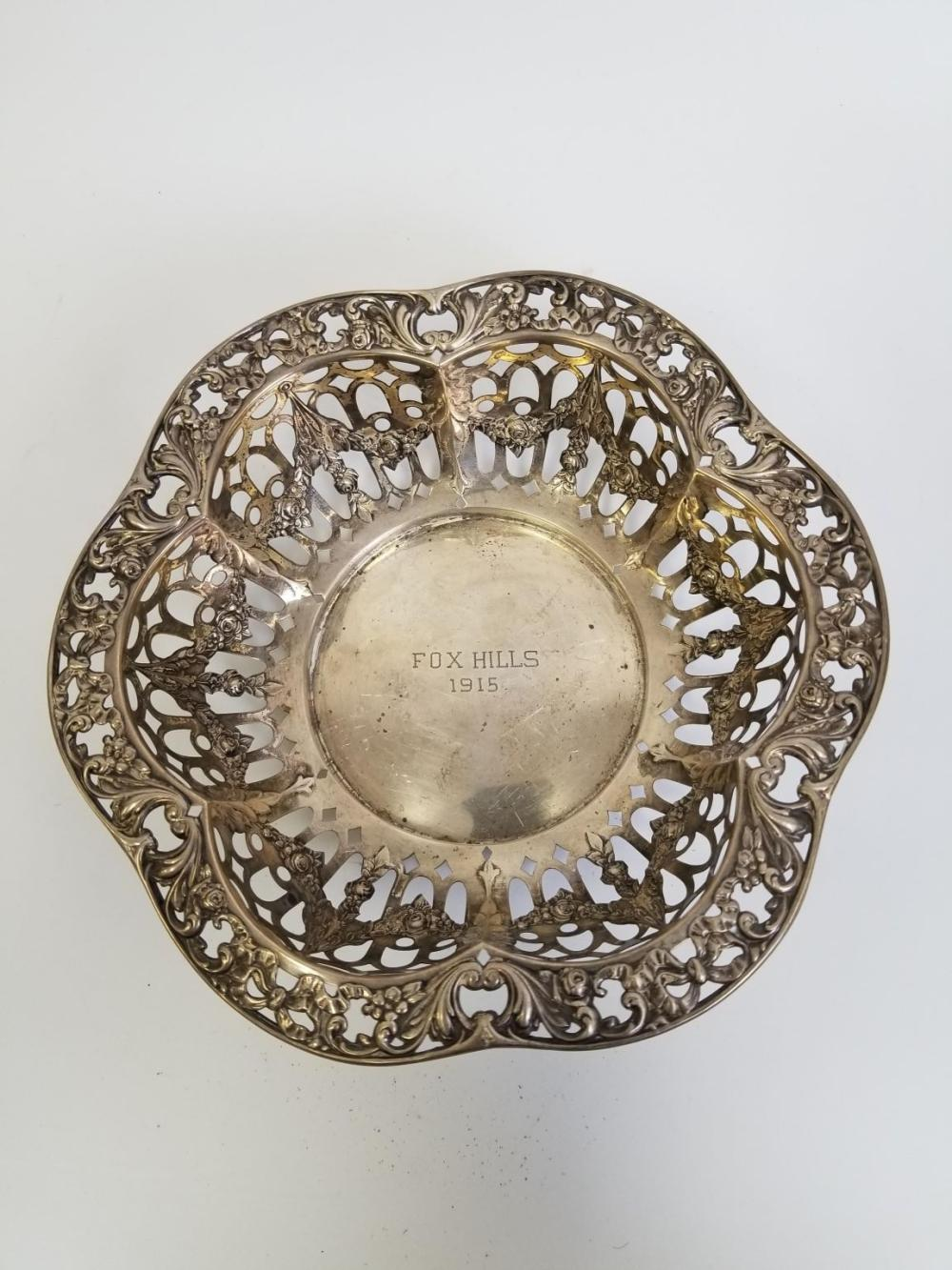 Sterling Silver Reticulated Bowl, Early 20thC