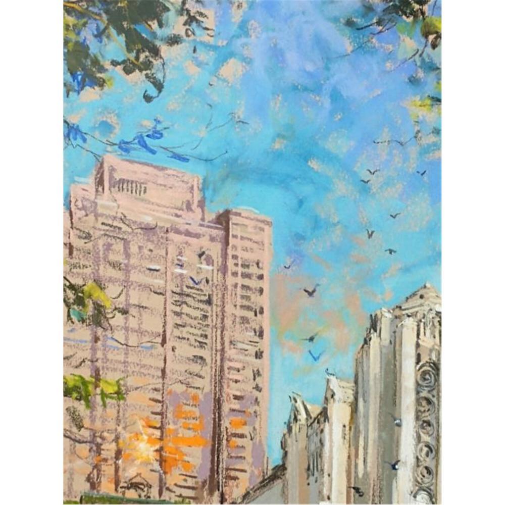 Exceptional Painting Pastel on Board, Kamil Kubik