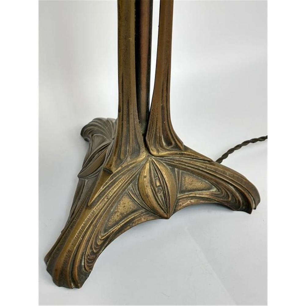 Large Daum Nancy French Cameo Glass Lamp, Circa 1900