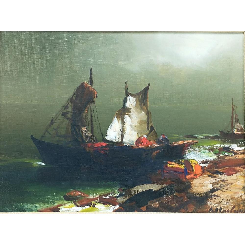 2 Paintings Oil on Canvas by Arthur Upelniek