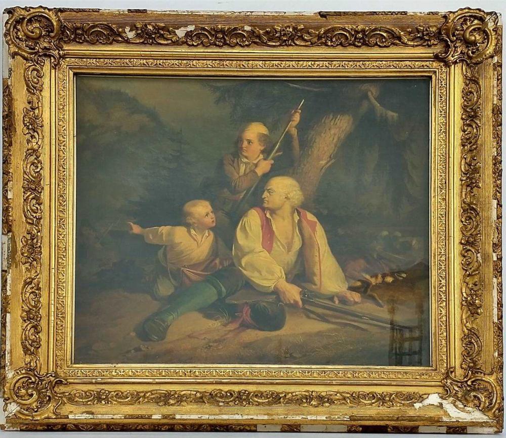 Painting Oil on Canvas by Theodor Von Deschhwanden