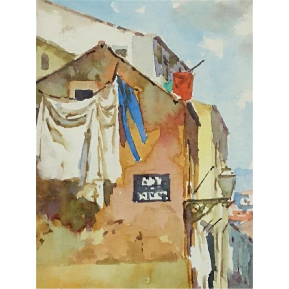 3 Paintings Watercolor on Paper by Manuel Ferreira